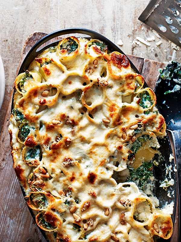 Ricotta and kale cannelloni recipe