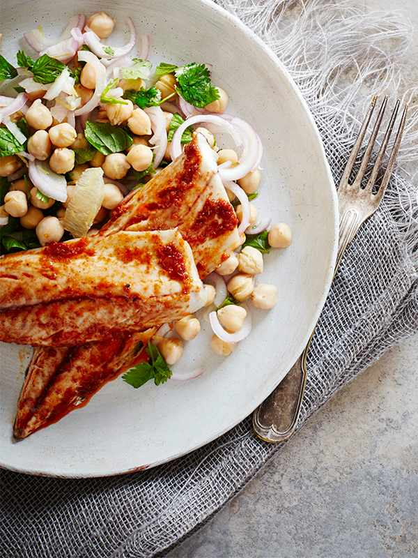Spiced Mackerel Fillets Recipe With Chickpeas