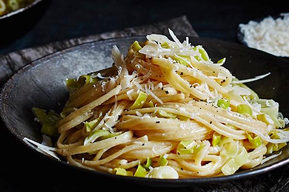 Leek Fondue Linguine Recipe