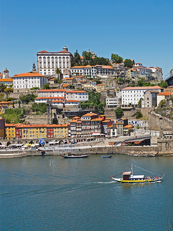 Porto river view with lots of terraced buildings