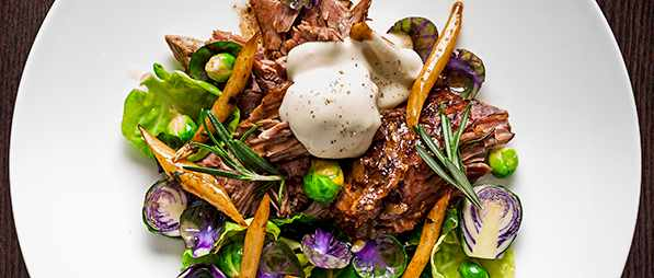 Slow Roast Lamb Recipe With Salsify, Brussels Sprouts and Bagna Cauda