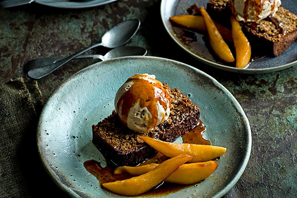 Yorkshire Parkin Recipe with Caramelised Pears