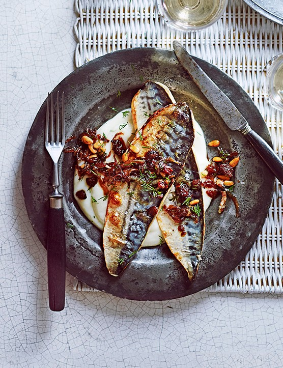 Mackerel with Cauliflower Purée Recipe