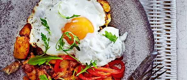 Smoked Mackerel Hash Recipe with Eggs