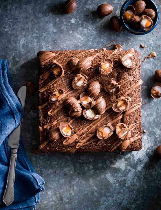 Creme Egg Brownie Cake Recipe