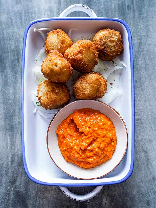 Salt Cod Croquettes Recipe with Fennel Salad