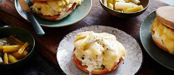 Tuna Melt Recipe With Spring Onion Confit
