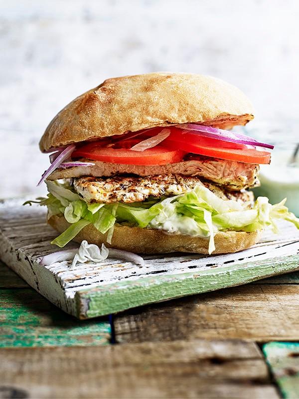 Greek Chicken Burger Recipe