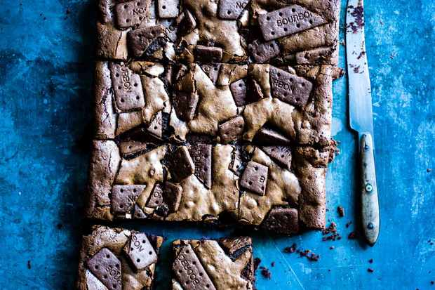 Bourbon Biscuit Chocolate Brownies Recipe
