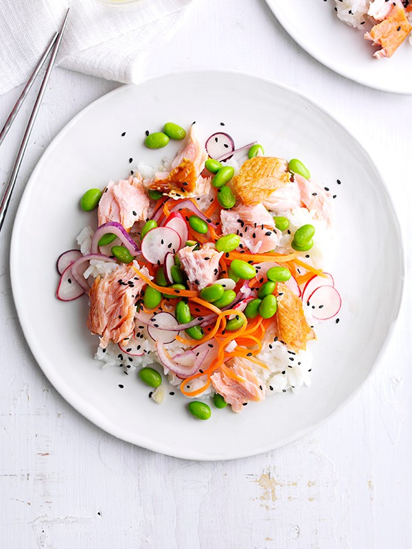Smoked Salmon Sushi Salad Recipe