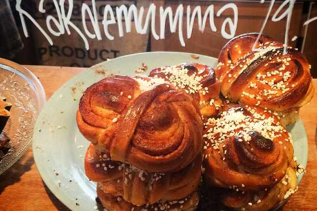 Cardamom buns at Lilla Kafferosteriet in Malmö Sweden