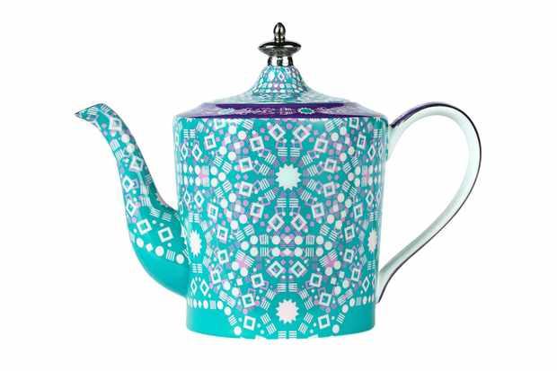 Moroccan tealeidoscope iced green teapot