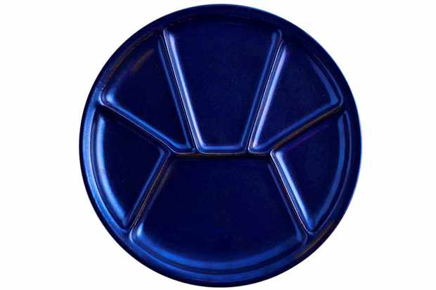 divided plate blue