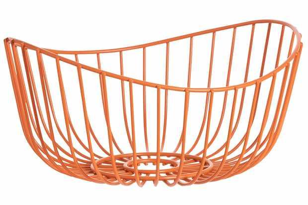 retro orange fruit basket