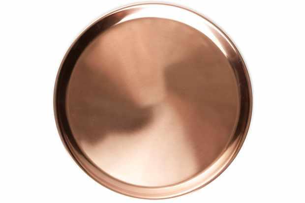 small copper tray