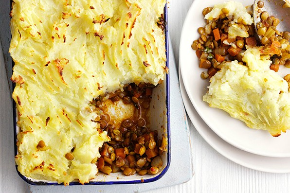 Vegetarian Shepherd's Pie Recipe With Spiced Lentils