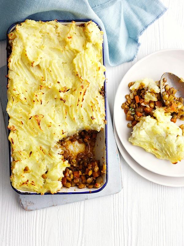 Vegetarian Shepherd's Pie Recipe With Spiced Lentils