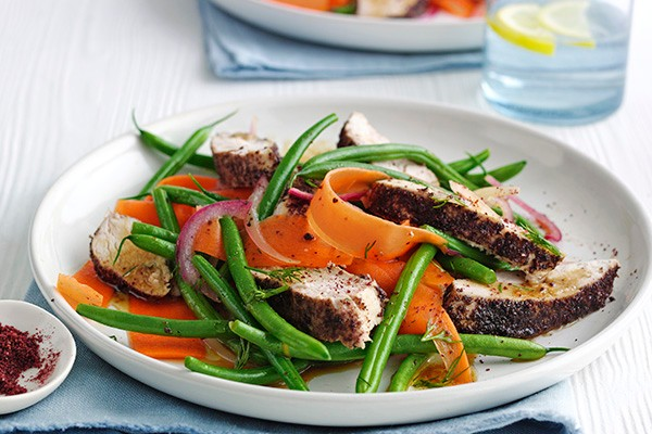 Sumac Chicken Recipe with Green Bean Salad
