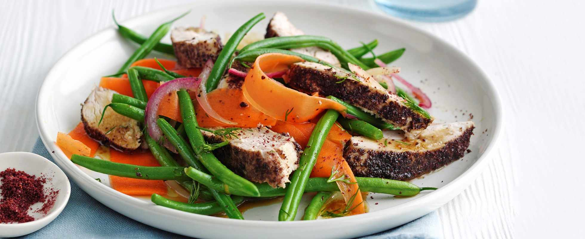 Sumac Chicken Recipe with Green Bean Salad