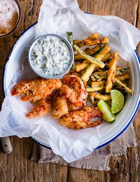 Fried Lobster and Chips Recipe