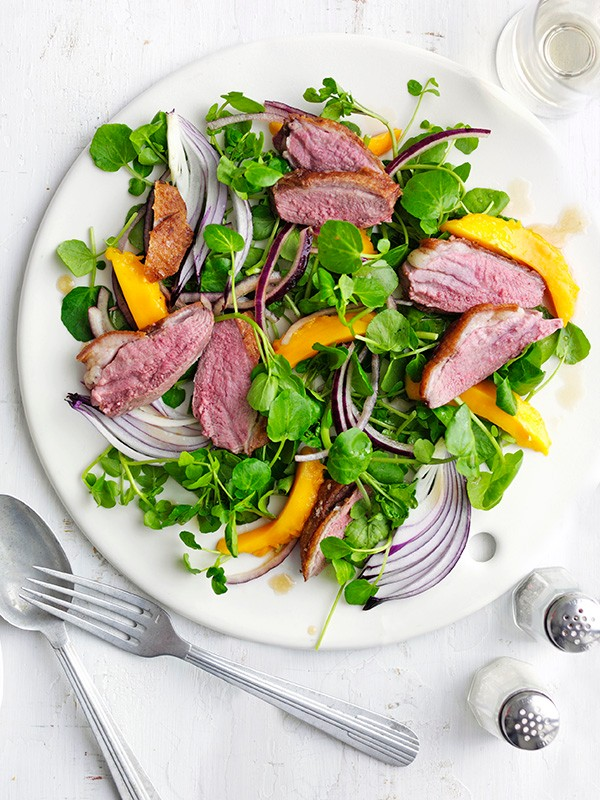 Duck, Mango and Watercress Salad Recipe