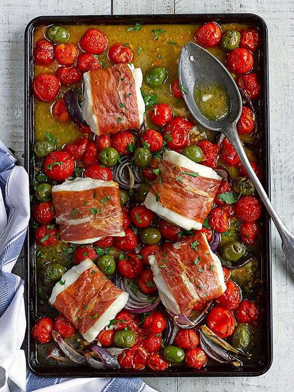 Baked Cod Loin Recipe with Olives