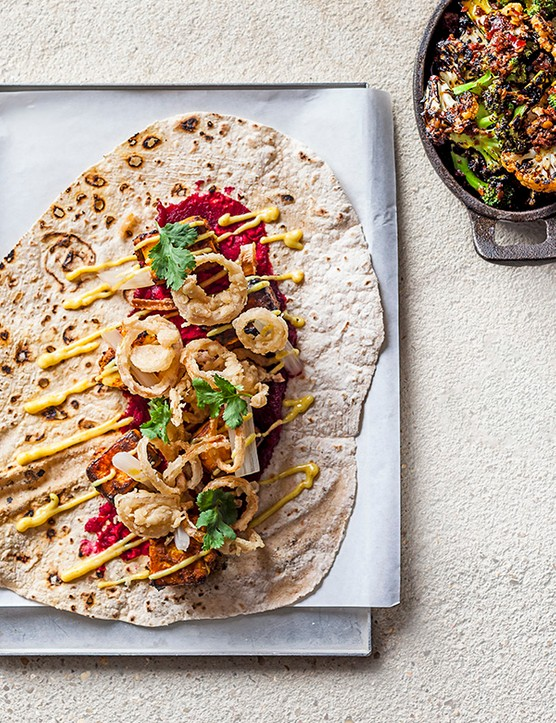 BBQ Paneer Recipe with Crispy Shallots, Beetroot and Coconut