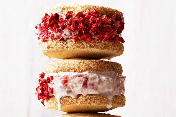 strawberry shortcake ice-cream sandwiches