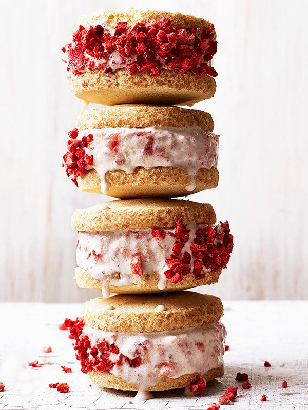 Strawberry Shortcake Ice Cream Sandwiches Recipe