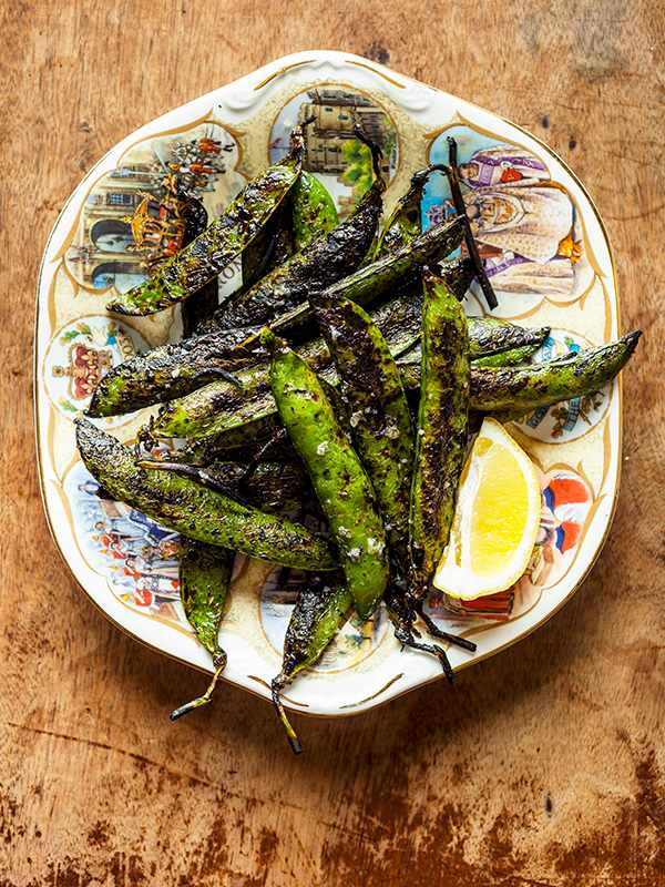 Grilled peas