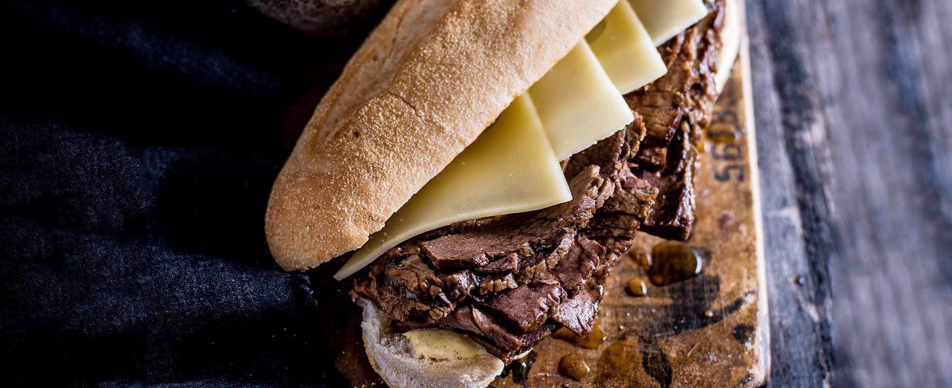 slow roast beef sandwich