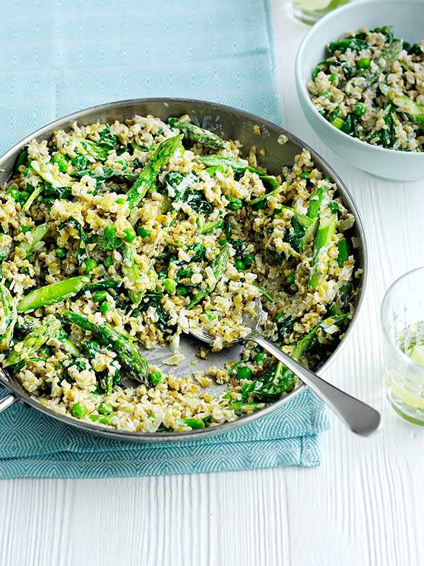 Risotto Recipe With Freekeh and Spring Greens