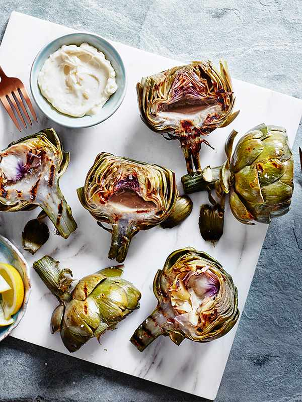 Charred Artichokes with Preserved Lemon Aïoli Recipe