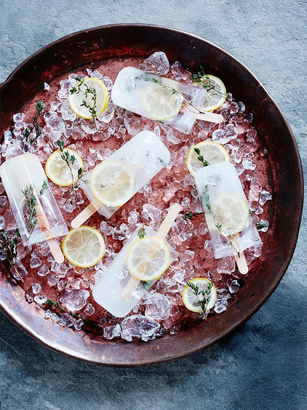 Lemon Ice Lolly Recipe With Thyme and Elderflower