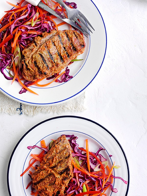 Tandoori Lamb Recipe with Coleslaw