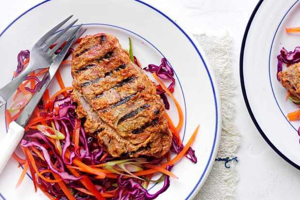 Tandoori Lamb Recipe with Coleslaw Recipe