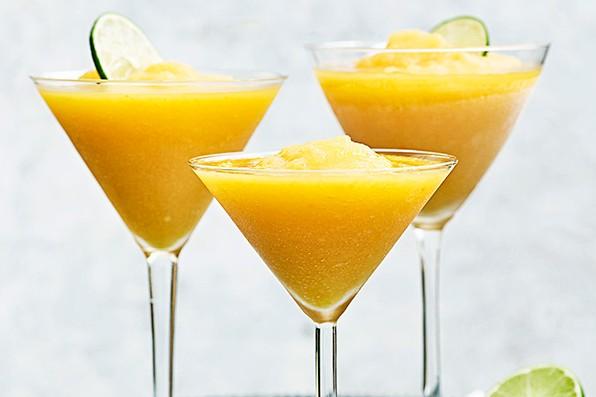 Frozen Margarita Recipe with Peaches