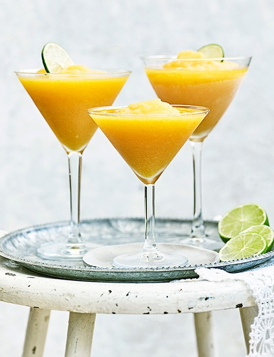 Frozen Margarita Recipe with Peaches