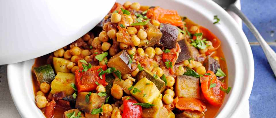 Moroccan Tagine Recipe With Veg and Chickpeas