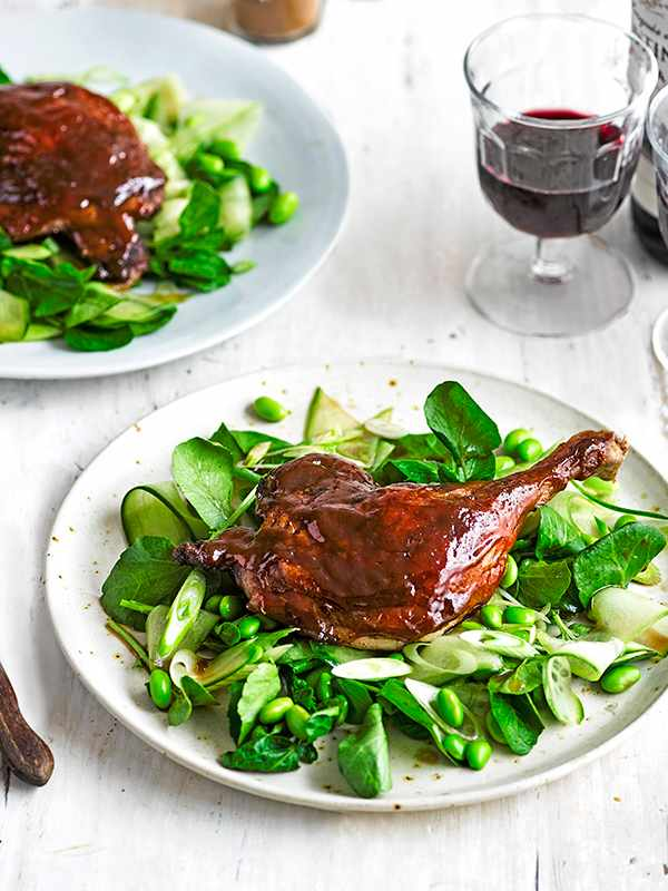 Duck Salad Recipe with Cucumber and Spring Onion