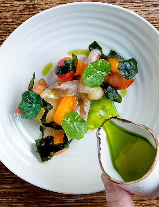 Cured Mackerel Recipe With Tomato Consommé