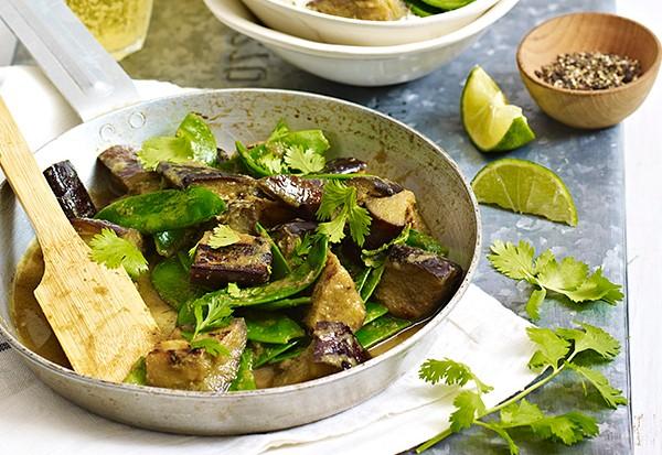 Aubergine Thai Jungle Vegetable Curry Recipe