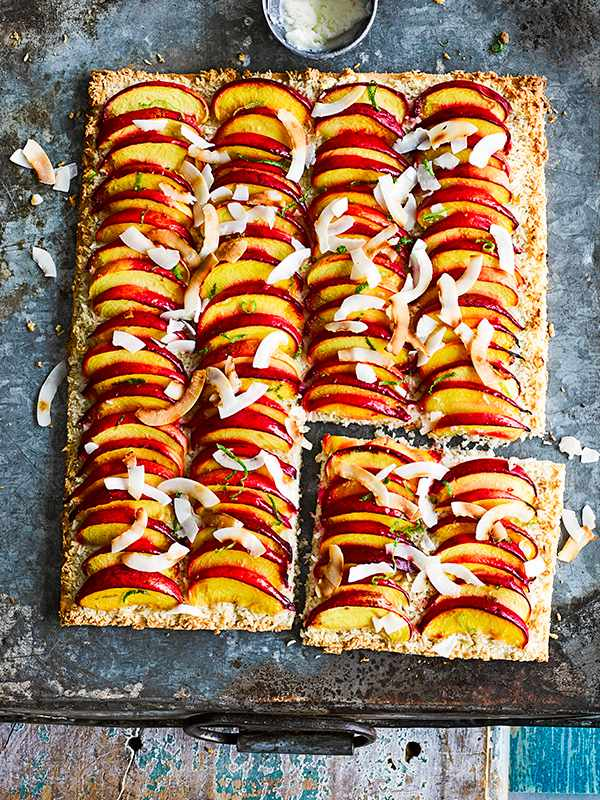 Dairy Free Nectarine Tart Recipe With Coconut and Lime