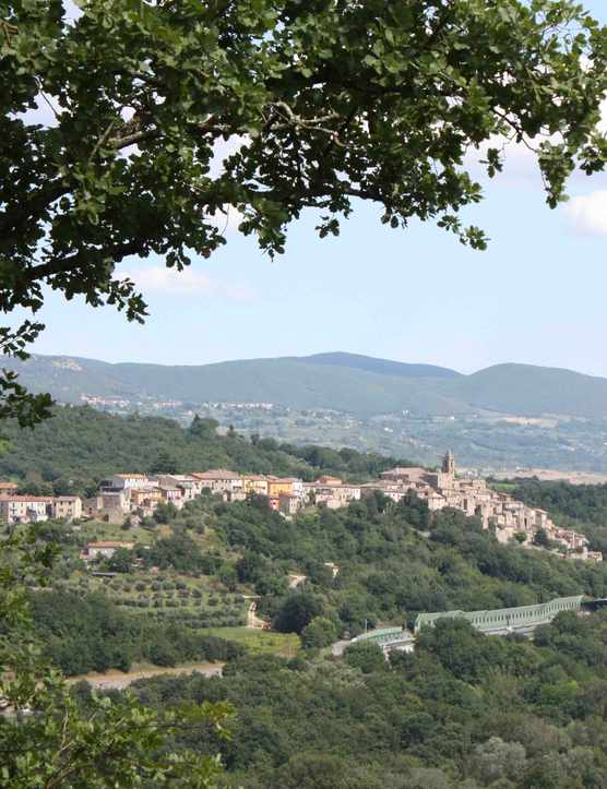A sweeping view of Umbria countryside