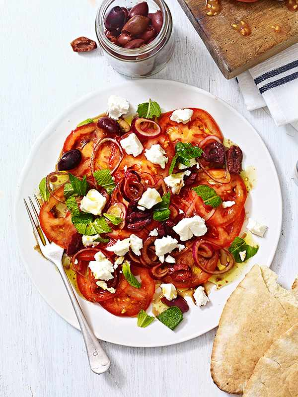 Marinated Tomato Salad Recipe With Feta