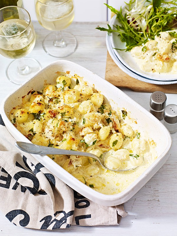 Baked Gnocchi Recipe with Lemon and Crab