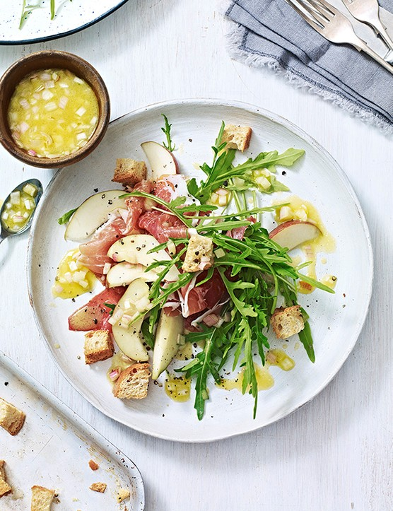 Pear Salad Recipe with Serrano Ham