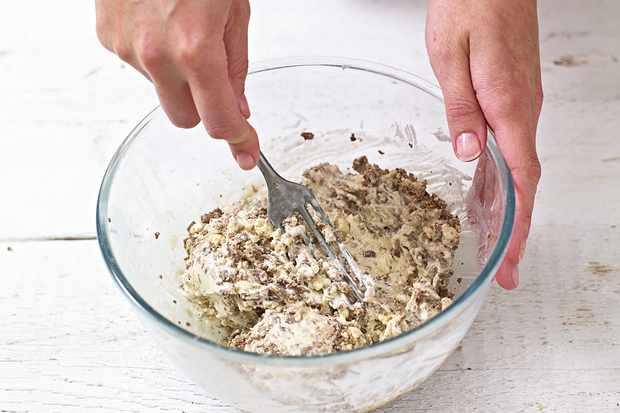 Adding crushed Maltesers and malted milk powder to icecream