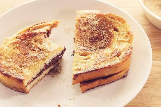 Nutella-stuffed French toast