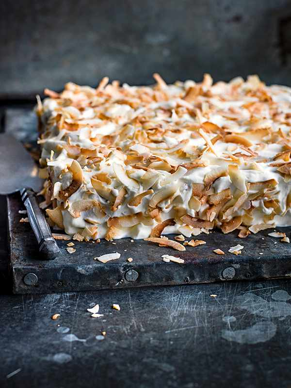 Tres Leches Cake Recipe With Rum and Toasted Coconut